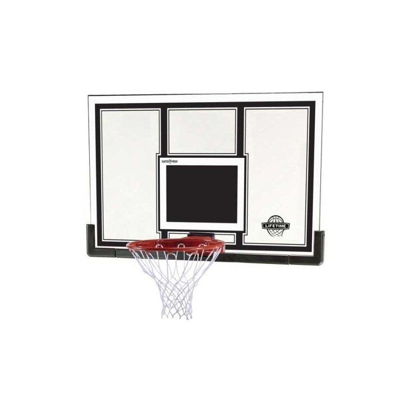 Lifetime 54 in. Steel-Framed Basketball Backboard, Slam-it Pro Rim (71526)