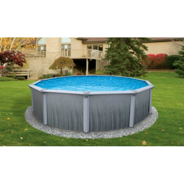Blue wave martinique 15 39 round 52 deep steel pool kit for Deep above ground pools