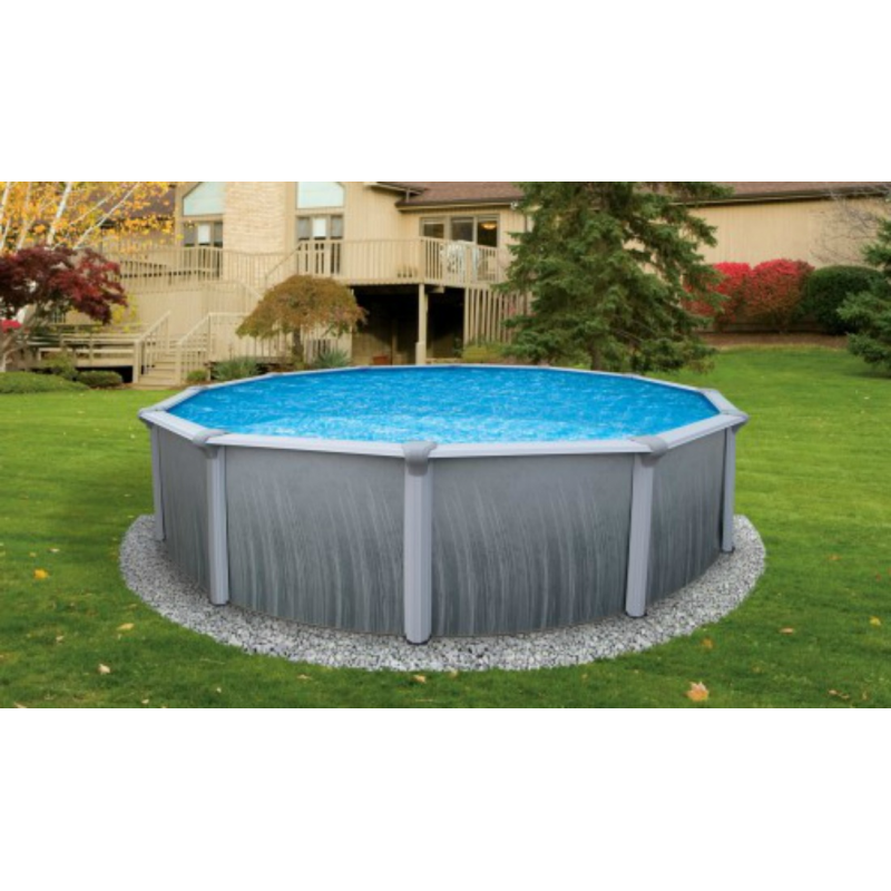 """Blue Wave Martinique 18' Round 52"""" Deep Steel Pool Kit (NB2612)"""