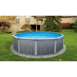"Blue Wave Martinique 24' Round 52"" Deep Steel Pool Kit (NB2614)"