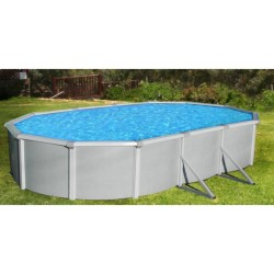 "Samoan 12x24x52 Steel Pool Kit with 8"" Toprail - Oval NB1648"