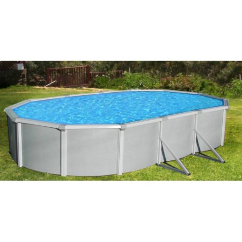 "Samoan 12x24x52 Steel Pool Kit with 8"" Toprail - Oval NB1648"