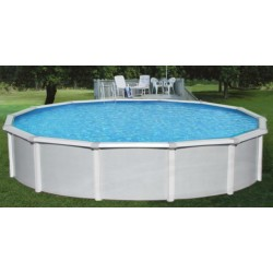 "Blue Wave Samoan 15x52 Steel Pool Kit with 8"" Toprail - Round NB1641"