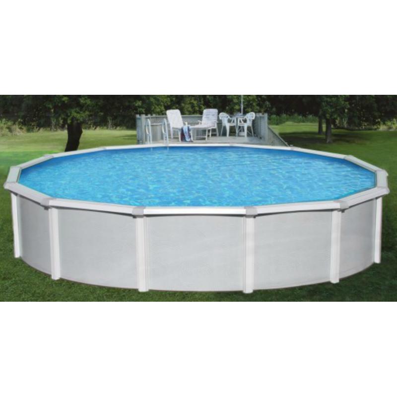 "Blue Wave Samoan 18x52 Steel Pool Kit with 8"" Toprail - Round NB1642"
