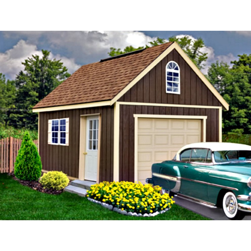 Best Barns Glenwood 12x16 Wood Storage Garage Kit (glenwood_1216)