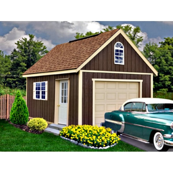Best Barns Glenwood 12x16 Wood Storage Garage Kit