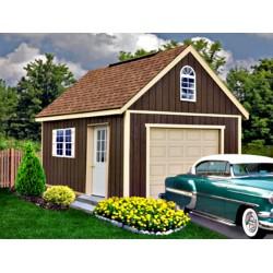 Best Barns Glenwood 12x24 Wood Storage Garage Kit (glenwood_1224)