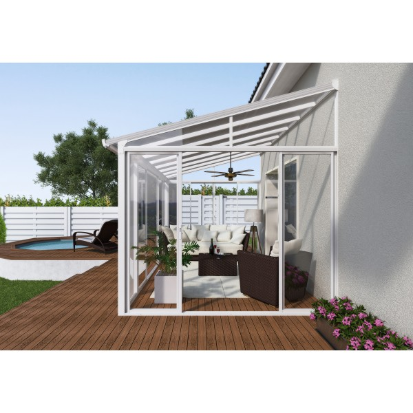 patio covers palram 10x14 san remo patio enclosure kit white