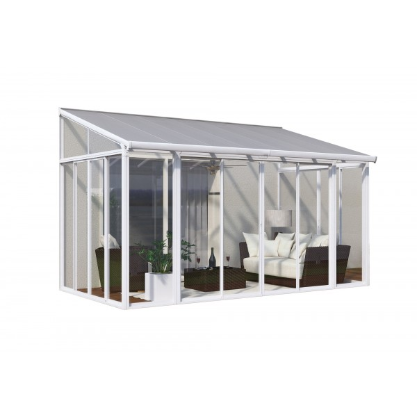 Palram 10x14 San Remo Patio Enclosure Kit W Screen Doors