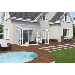 Palram 10x14 San Remo Patio Enclosure Kit w/ Screen Doors  - White  (HG9066)