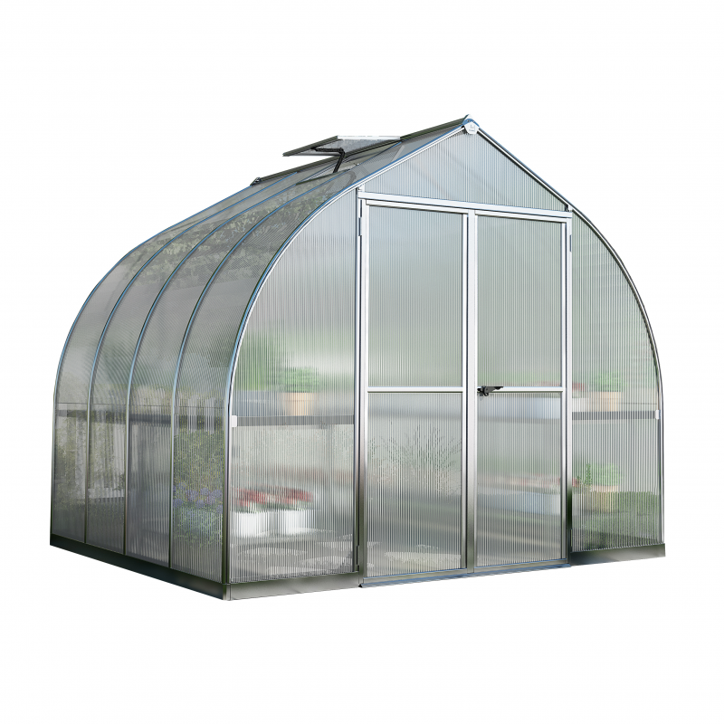 Palram 8x8 Bella Hobby Greenhouse Kit - Silver (HG5408)