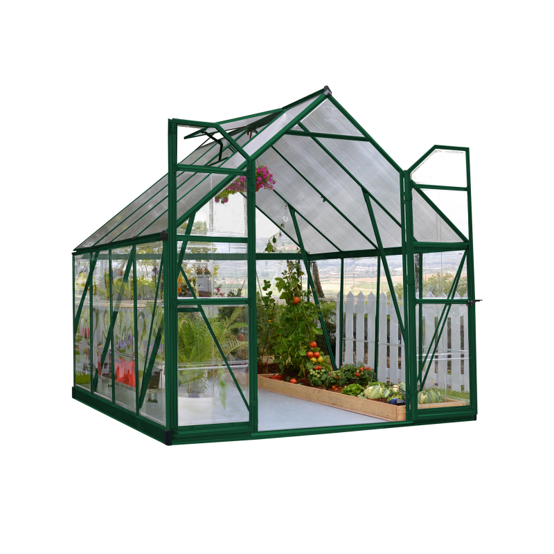 Palram 8x8 Balance Hobby Greenhouse Kit -  Green (HG6108G)