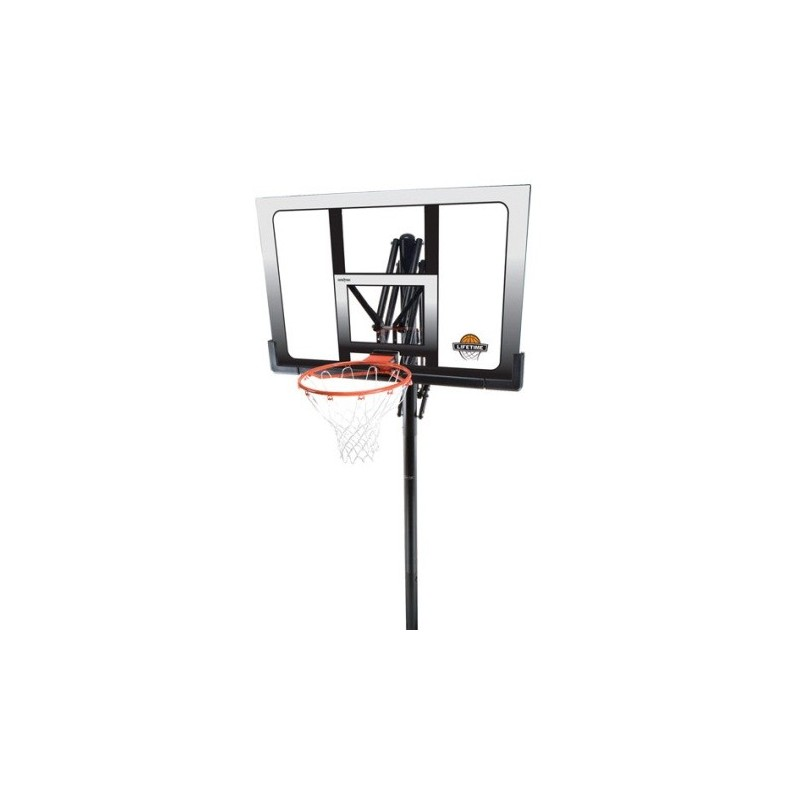 Lifetime In-Ground Clear 52 in. Square Shatter Proof Basketball System with Slam-It Rim 71281