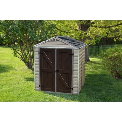 Palram 6x5 Skylight Storage Shed Kit - Tan (HG9605T)