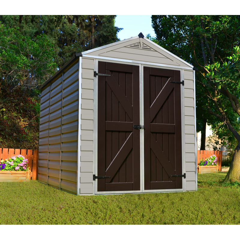 Palram 6x8 Skylight Storage Shed Kit - Tan (HG9608T)