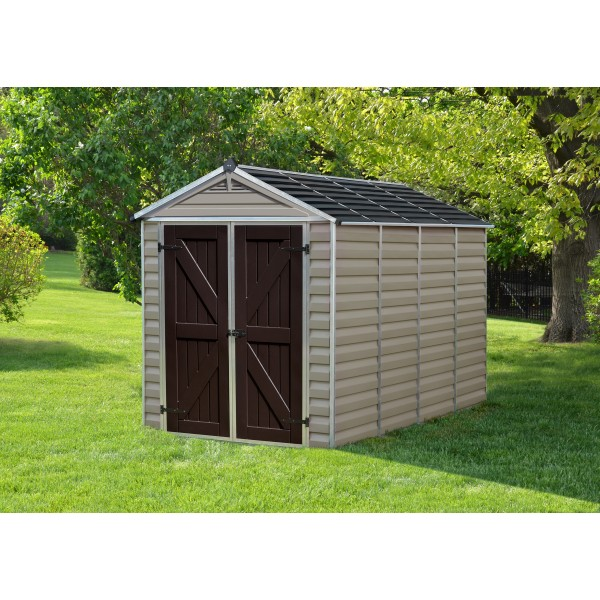 Palram 6x10 Skylight Storage Shed Kit Tan Hg9610t