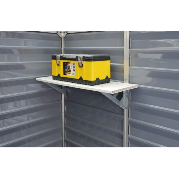 Palram Skylight Storage Shed Shelf Kit Hg1054