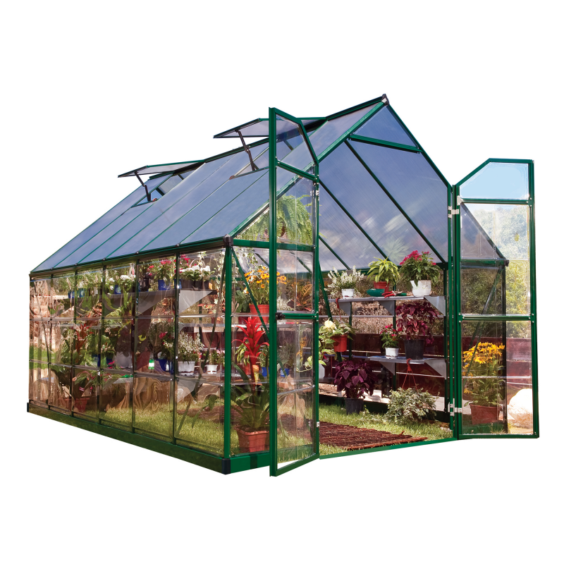 Palram 8x12 Balance Hobby Greenhouse Kit -  Green (HG6112G)