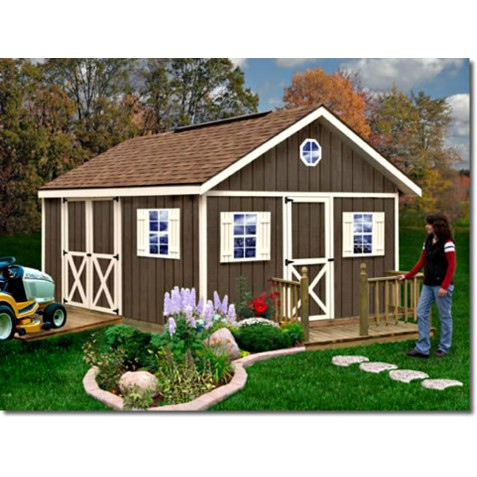 Fairview 12x16 Wood Storage Shed Kit All Pre Cut