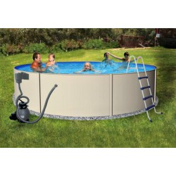 "Blue Wave Blue Lagoon 24' Round 52"" Economical Steel Pool Kit Package (NB1067)"