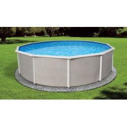 "Blue Wave Belize 21' Round 48"" Deep Steel Pool Kit - With 6"" Toprails (NB2506)"