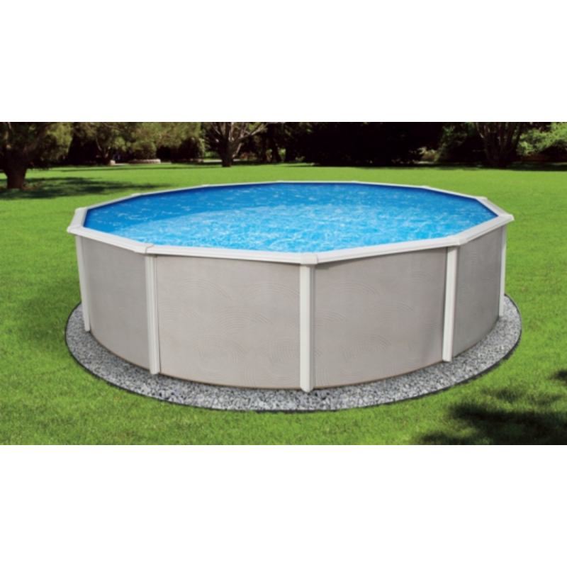 "Blue Wave Belize 33' Round 52"" Steel Pool Kit - With 6"" Toprails (NB2531)"