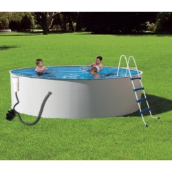 Presto 12x52 Deep Metal Wall Above-Ground Pool Packages - Round NB2012
