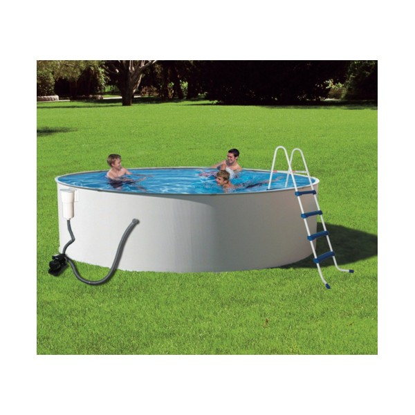 Blue wave presto 24 round 52 deep metal wall pool kit for Above ground pool packages cheap