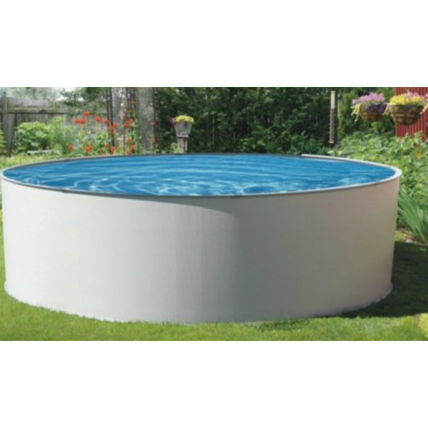 Blue wave presto 24 round 52 deep metal wall pool kit for Cheap above ground pool packages