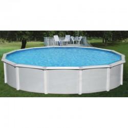 "Blue Wave Samoan 24' Round 52"" Deep Steel Pool Kit with 8"" Toprail (NB1644)"
