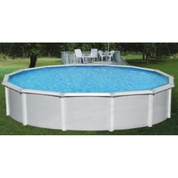 "Blue Wave Samoan 33' Round 52"" Deep Steel Pool Kit with 8"" Toprail (NB1647)"