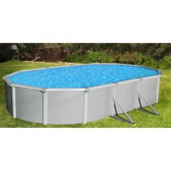 "Blue Wave Samoan 21' x 41' Oval 52"" Deep Steel Pool Kit with 8"" Toprail (NB1651)"