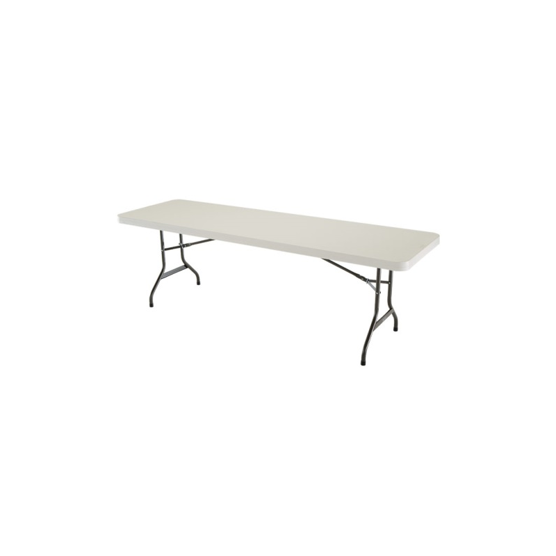 Lifetime 8 Ft. Commercial Plastic Folding Banquet Table - Almond (22984)
