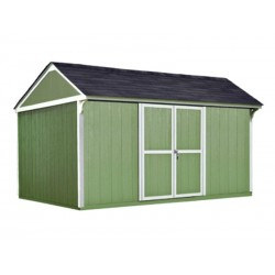 Handy Home Lexington 12×10 Wood Storage Shed Kit (19627-0)
