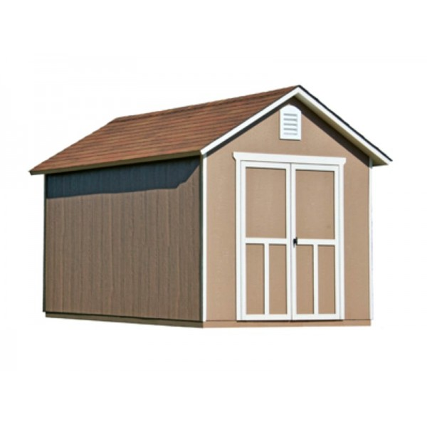 Handy Home Meridian 8x12 Wood Storage Shed Kit W Floor