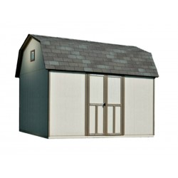 Handy Home Briarwood 12×8 Wood Storage Shed Kit (19353-8)