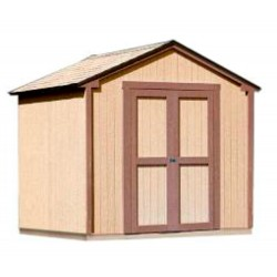 Handy Home Kingston 8x8 Wood Storage Shed w/ Floor (18276-1)