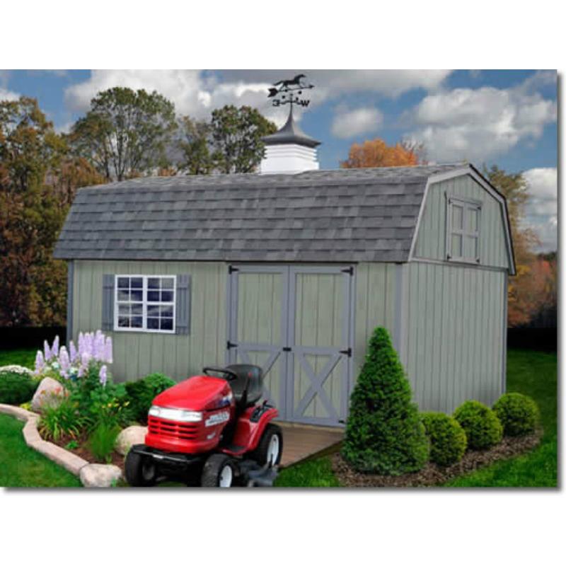 Best Barns Meadowbrook 16x10 Wood Storage Shed Kit (meadowbrook_1016)