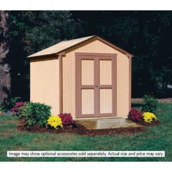 handy home kingston 8x8 wood storage shed kit  18275