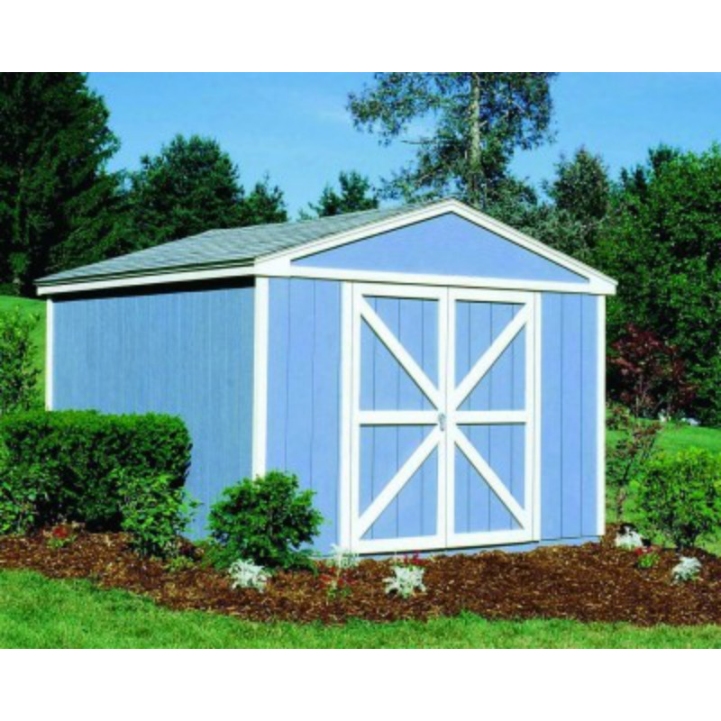 Handy Home Somerset 10x8 Wood Storage Shed w/ Floor (18502-1)
