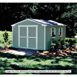 Handy Home Cumberland 10x8 Wood Storage Shed Kit (18280-8)