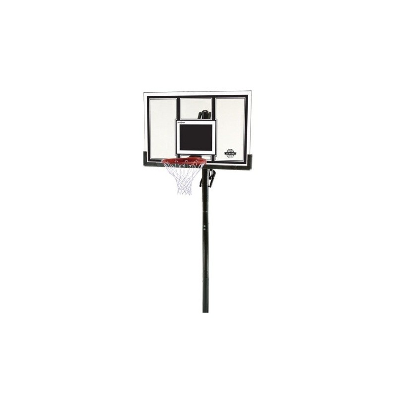Lifetime In-ground Basketball Hoop - 54 in. Square Backboard, Power Lift, Slam-It Pro Rim 71525