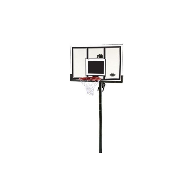 Lifetime 54 in. In-Ground Basketball Hoop - Square Backboard, Power Lift, Slam-It Pro Rim (71525)