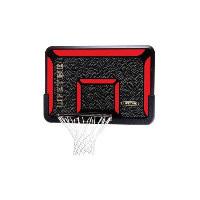 Lifetime 44 in. Rectangular Impact Basketball Backboard, Classic Rim 3823