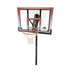 Lifetime In-ground 5 in. Square Shatter Proof Easy Lift Action Grip Basketball System with Slam-It Rim 71799