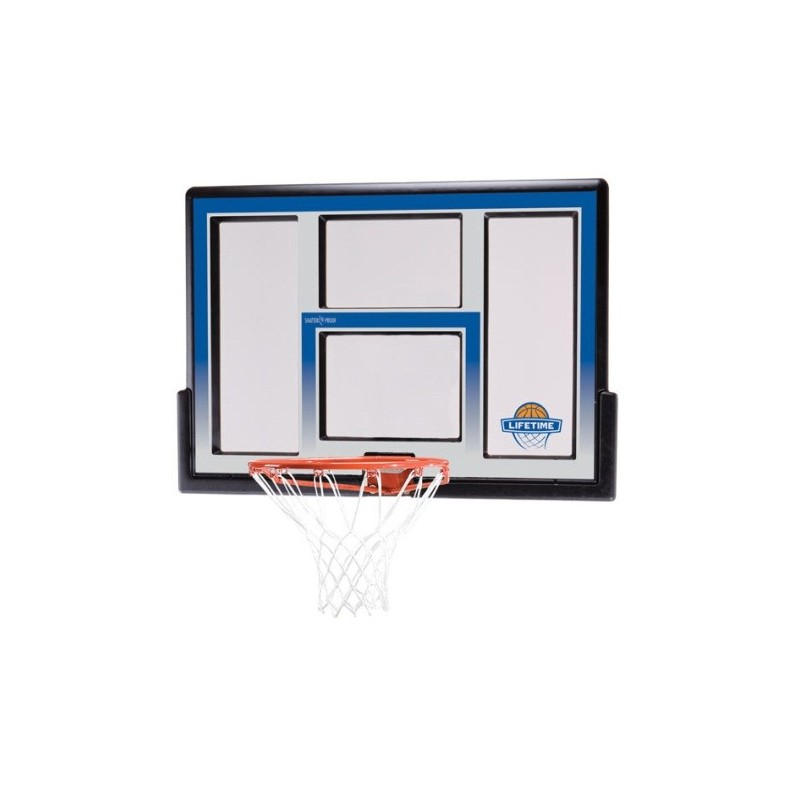Lifetime 48 in. Shatter Proof Fusion Basketball Backboard, Orange Slam-It Rim 73621