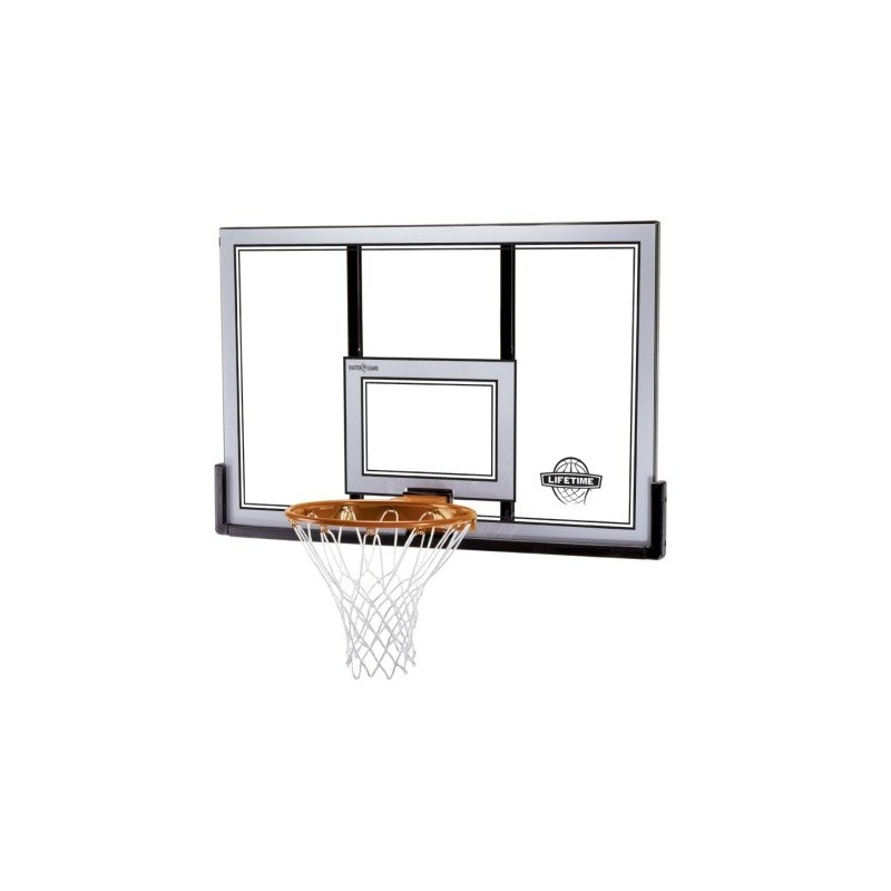 Lifetime 50 in. Shatter Proof Steel-Framed Basketball Backboard with Slam-It Pro Rim (79910)