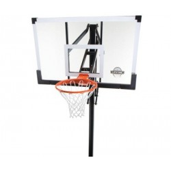 Lifetime In-Ground 54 in. Clear Tempered Glass Backboard with Power Lift Adjustment and Ultra Rim 90014