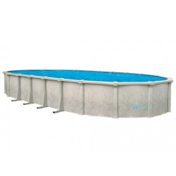 """Tahitian 18' x 33' Oval 54"""" Steel Wall Pool With Resin Toprail And S.S. Panel (NB1208)"""