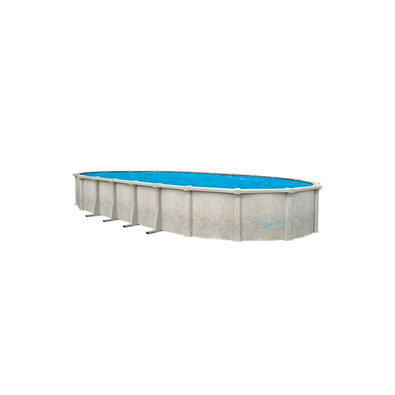 "Tahitian 18' x 33' Oval 54"" Steel Wall Pool With Resin Toprail And S.S. Panel (NB1208)"